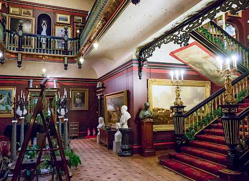 Russel-Cotes Museum, Bournemouth. Fill paint research of the interior and exterior. Client: Dorset Museum Services