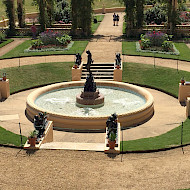 SUMMER 2018. ANDROMEDA FOUNTAIN, OSBORNE HOUSE, FURTHER PHASE OF REPAIRS FOR ENGLISH HERITAGE