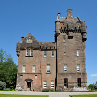 Brodick Castle, Isle of Arran. Extensive Research of all Interiors and Exterior Decoration by Ian & Michael Crick-Smith. Employer: University of Lincoln. Client: National Trust for Scotland.