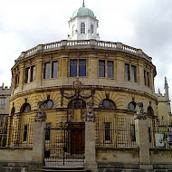 The Sheldonian Theatre Oxford. Interior Paint Research and Paint Analysis. Winner of the Oxford Preservation Trust Award for Building Conservation 2011. Employer:  Later phase only, University of Lincolon. Client: the University of Oxford Estate Services . Image Free Usage